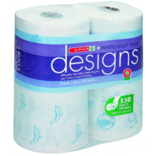 SPAR DESIGNS TOILET ROLLS 2PLY PRINTED DOLPHIN 4'S