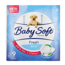 BABYSOFT 2PLY TOILET ROLLS PRINTED BLUE 9'S