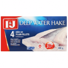 I&J DEEP WATER HAKE FILLETS 4'S 400GR