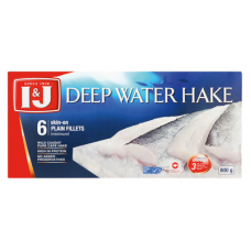 I&J DEEP WATER HAKE FILLETS 6'S 800GR