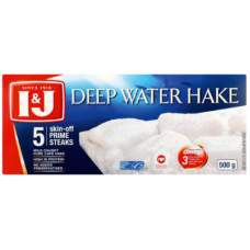 I&J DEEP WATER HAKE PRIME STEAK 5'S 500GR