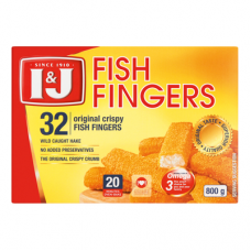 I&J FISH FINGERS 32'S 800GR