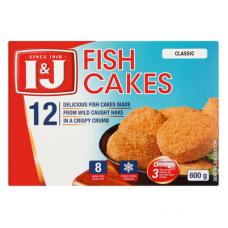 I&J FISH CAKES 12'S 600GR
