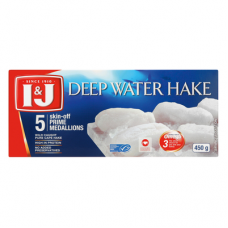 I&J DEEP WATER HAKE MEDALLIONS 5'S 450GR
