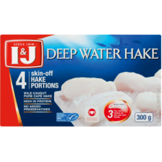 I&J DEEP WATER HAKE FILLETS 4'S 300GR