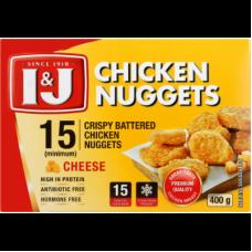 I&J CHICKEN NUGGETS CRISPY BATTERED CHEESE 15'S 400GR