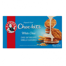 BAKERS CHOCKITS WHITE CHOCOLATE 200GR