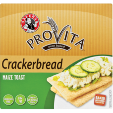 BAKERS CRACKERBREAD MAIZE TOAST 125GR