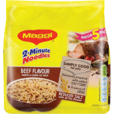 MAGGI 2 MINUTE NOODLES BEEF 5 X 73GR
