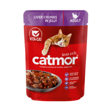 CATMOR ADULT LIVER CHUNKS IN JELLY 85GR