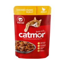 CATMOR ADULT CHICKEN CHUNKS IN JELLY 85GR