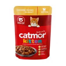 CATMOR KITTEN CHICKEN CHUNKS IN GRAVY 85GR