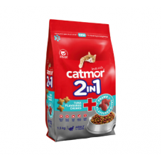 CATMOR ADULT 2 IN 1 TUNA FLAVOURED CHUNKS & PRAWN FLAVOURED BITES 1.5KG