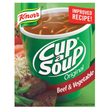 KNORR CUP A SOUP BEEF & VEGETABLE 80GR