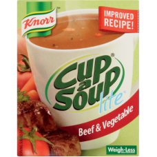 KNORR CUP A SOUP LITE BEEF & VEG 44GR