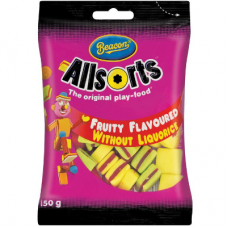 BEACON BAG ALLSORTS MINI FRUITY 150GR