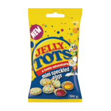 BEACON BAG JELLY TOTS MINI SPECKLED EGGS 100GR