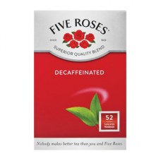 FIVE ROSES TAGLESS TEABAGS DECAFFENATED 50'S