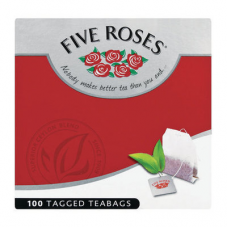 FIVE ROSES TAGGED TEABAGS 100'S