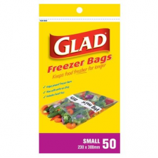 GLAD FREEZER BAGS SMALL 50'S