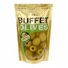 BUFFET OLIVES GREEN PITTED 200GR