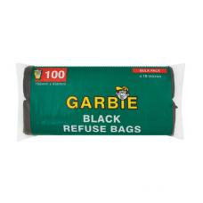GARBIE BLACK REFUSE BAGS 100'S