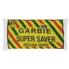 GARBIE SUPER SAVER REFUSE BAGS 20'S
