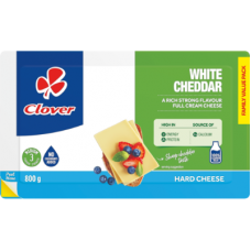 CLOVER CHEESE WHITE CHEDDAR 800GR