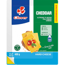 CLOVER CHEESE CHEDDAR 400GR