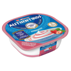 CLOVER AUTHENTIKOS YOGHURT DOUBLE CREAM STRAWBERRY 100GR