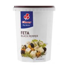 CLOVER FETA CHEESE BLACK PEPPER 400GR
