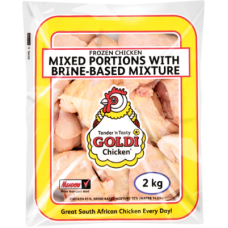 GOLDI IQF MIXED PORTIONS WITH BRINE 2KG