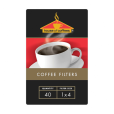 HOUSE OF COFFEES FILTER PAPER 1X4 40'S
