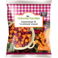 NATURE'S GARDEN BUTTERNUT & BEETROOT ROAST 1KG