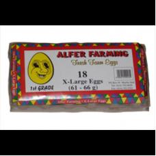 ALFER FARMING EGGS EXTRA LARGE 18's