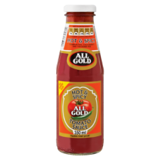 ALL GOLD TOMATO SAUCE HOT & SPICY 350GR