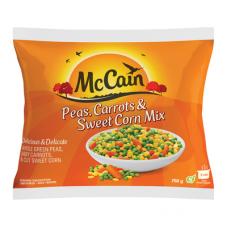 MCCAIN PEAS, CARROTS & SWEET CORN MIX 750GR