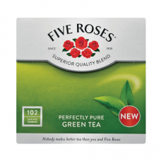 FIVE ROSES GREEN TEA TAGLESS TEABAGS 102'S