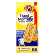 BAKERS GOOD MORNING BREAKFAST BISCUITS MILK & CEREAL 300GR