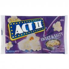 ACT II MICROWAVE POPCORN SWEET & SALTY 85GR