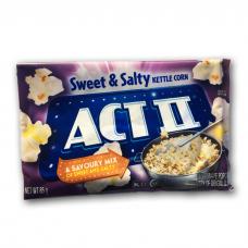 ACT II MICROWAVE POPCORN SWEET & SALTY 3 X 85GR
