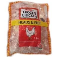SPAR CHICKEN HEADS & FEET 1KG