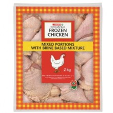 SPAR IQF CHICKEN MIXED PORTIONS 2KG