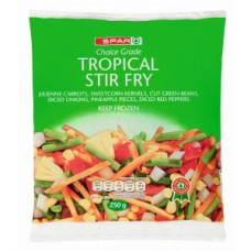 SPAR STIRFRY VEGETABLE TROPIC 250GR