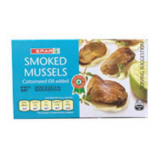 SPAR SMOKED MUSSELS 85GR