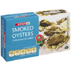 SPAR SMOKED OYSTERS 85GR