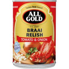 ALL GOLD TOMATO & ONION BRAAI RELISH 410GR