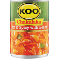 KOO CHAKALAKA HOT & SPICY WITH BEANS 410GR