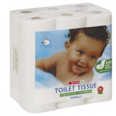 SPAR TOILET ROLL 2PLY 18'S