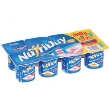 NUTRIDAY YOGHURT SMOOTH STRAWBERRY GRANADILLA APRICOT 6X100GR